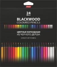 Карандаши 24 цв Black Diamond черное дерево заточенные картонная упаковка европодвес 24830